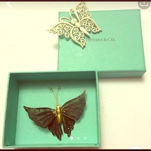 Madame Butterfly- Black & White Butterfly Brooches